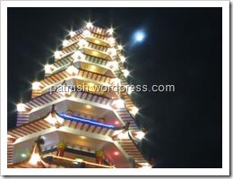 pagoda with moon
